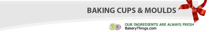 Baking cups and molds. We always provide fresh ingredients at bakerythings.com