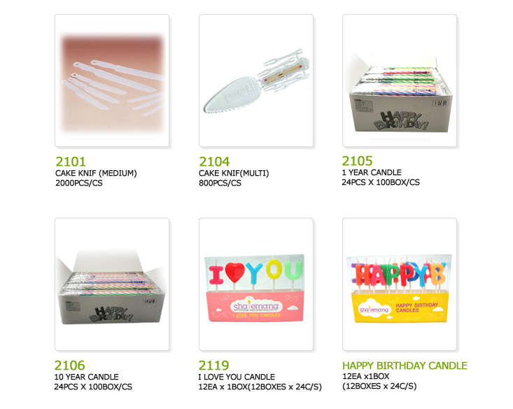 cake knives, 1 year candles, 10 year candles, i love you candles, happy birthday candles,